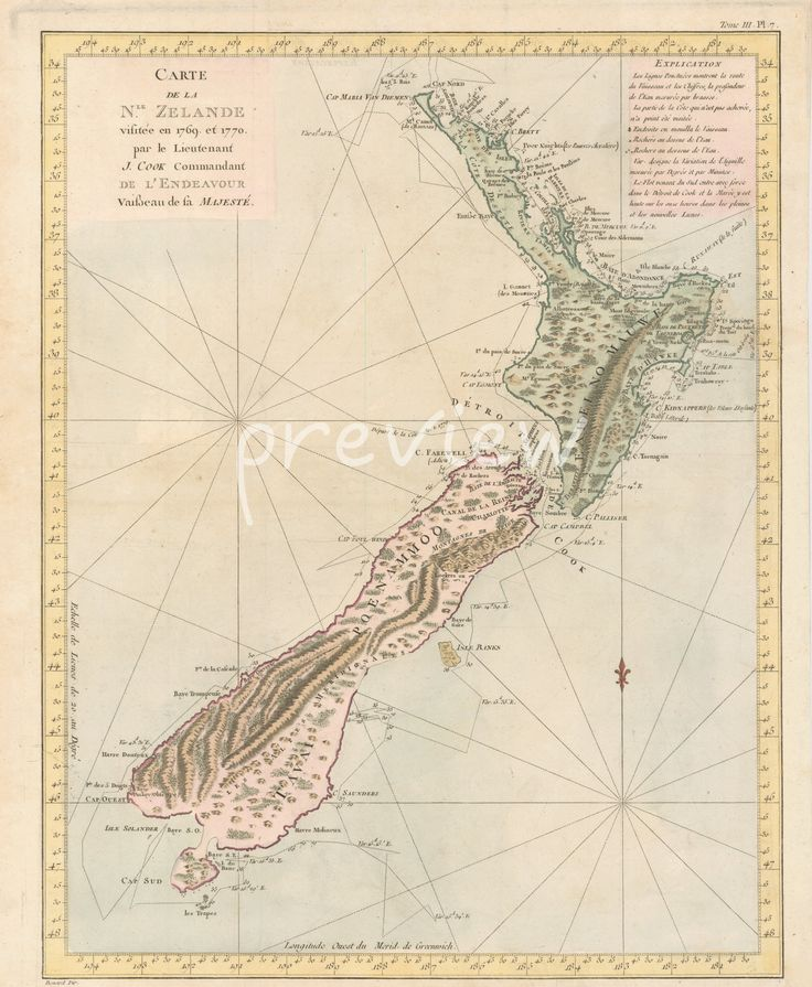 Antique Geological Map Voyages Vintage Map Map of