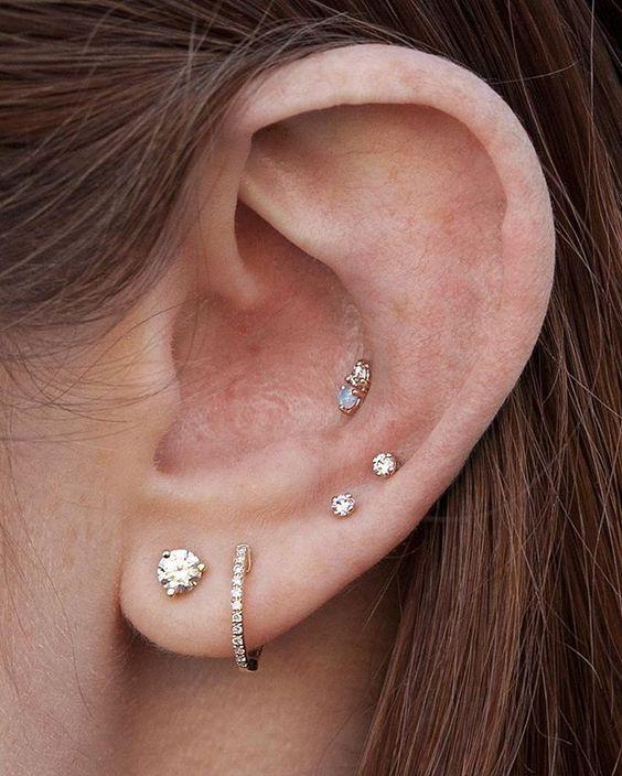 ear piercings ideas multiple