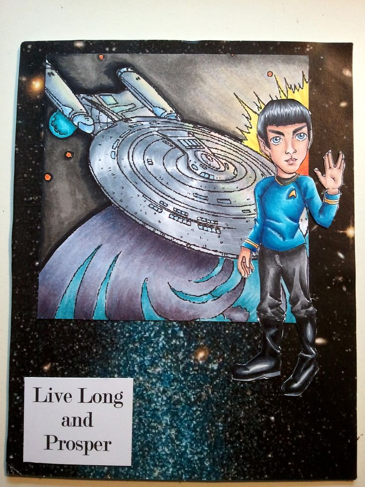 Live Long and Prosper.  The Spock digi is by Mayzy Art.  The card style is also from a challenge winner (Jo) on the Mayzy Art blog, but I did change it slightly.  I just like the two images together, I think they look awesome, so thanks for the great idea!
