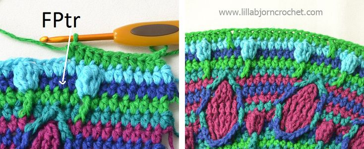Part 4: Peacock Tail Bag CAL. Original design of a nice colorful bag by Lilla Bjorn Crochet. FREE crochet pattern!