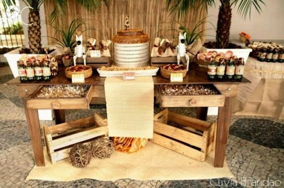 aperitif dinatoire deco buffet creole