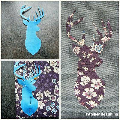 Customisation pochette liberty cerf -  Customize deer