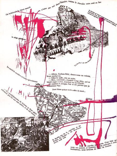 Debord and Asger Jorn 'Mémoires' (1959) includes references to the 'Dérive', which would become known as Situationist Drift: the habit of walking aimlessly through a city in an attempt to find its spirit