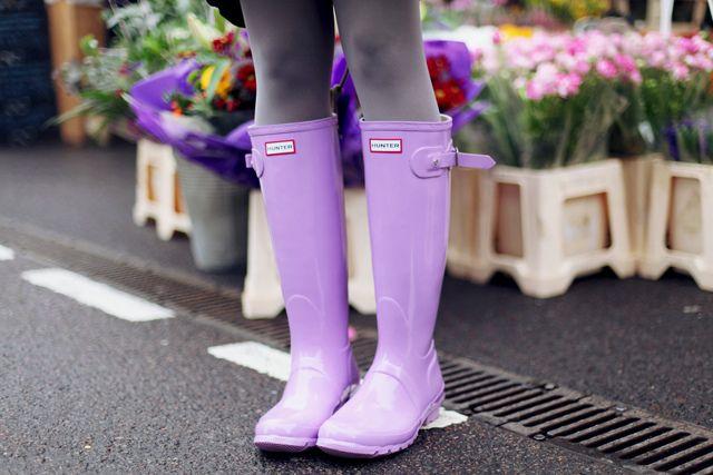 Hunter Original Gloss wellies in Wisteria Lilac Purple                                                                                                                                                                                 More