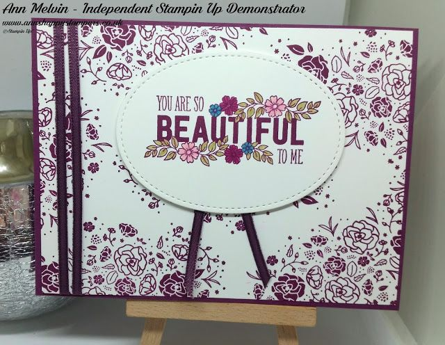 Ann's Happy Stampers: Beautiful Wood Words Card