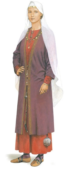 Wisigarde, 510 - 538/40 AD, Merovingian. What was being worn on the Continent, for comparison.