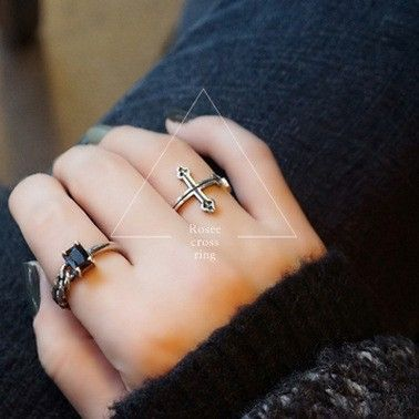 2016 New Arrivals Free Transport 925 Sterling Silver Ring Trend Cross Silver Ring Ladies Jewellery Present Finger Open Rings - Silver Jewellery 925 - SHOP NOW