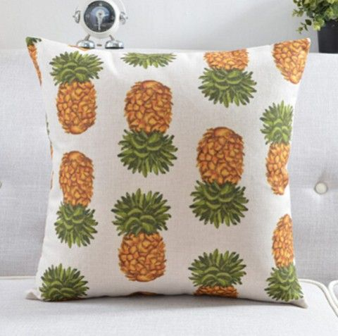 Pineapple Throw Pillows For Couch Hand Painted Style