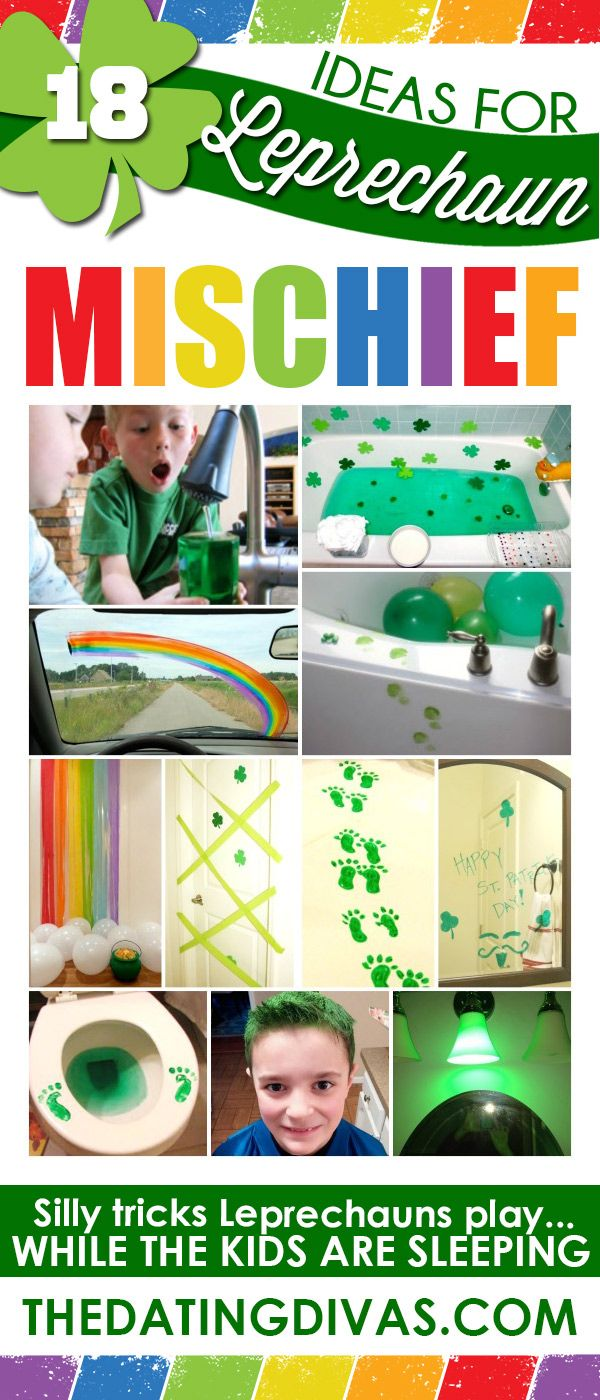 Hilarious leprechaun pranks! The kids will love these!