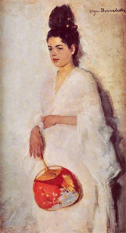 Polish Impressionist painter, Olga Boznanska Japonka ~ 1889