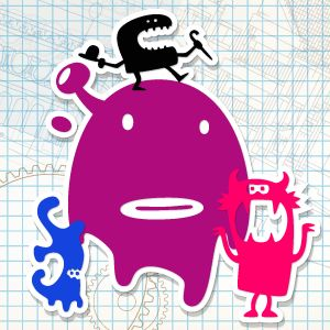Late-breaking news, a group of crazy cartoon monsters come alive and prowling the area. If you have enough courage, challenge with them face to face and destroy them all. Be careful, some of them have the supernatural powers: - explode like a bomb - attract as a magnet - are fast as the wind...