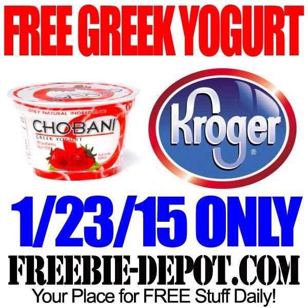 FREE Greek Yogurt at Kroger Freebie Friday FREE
