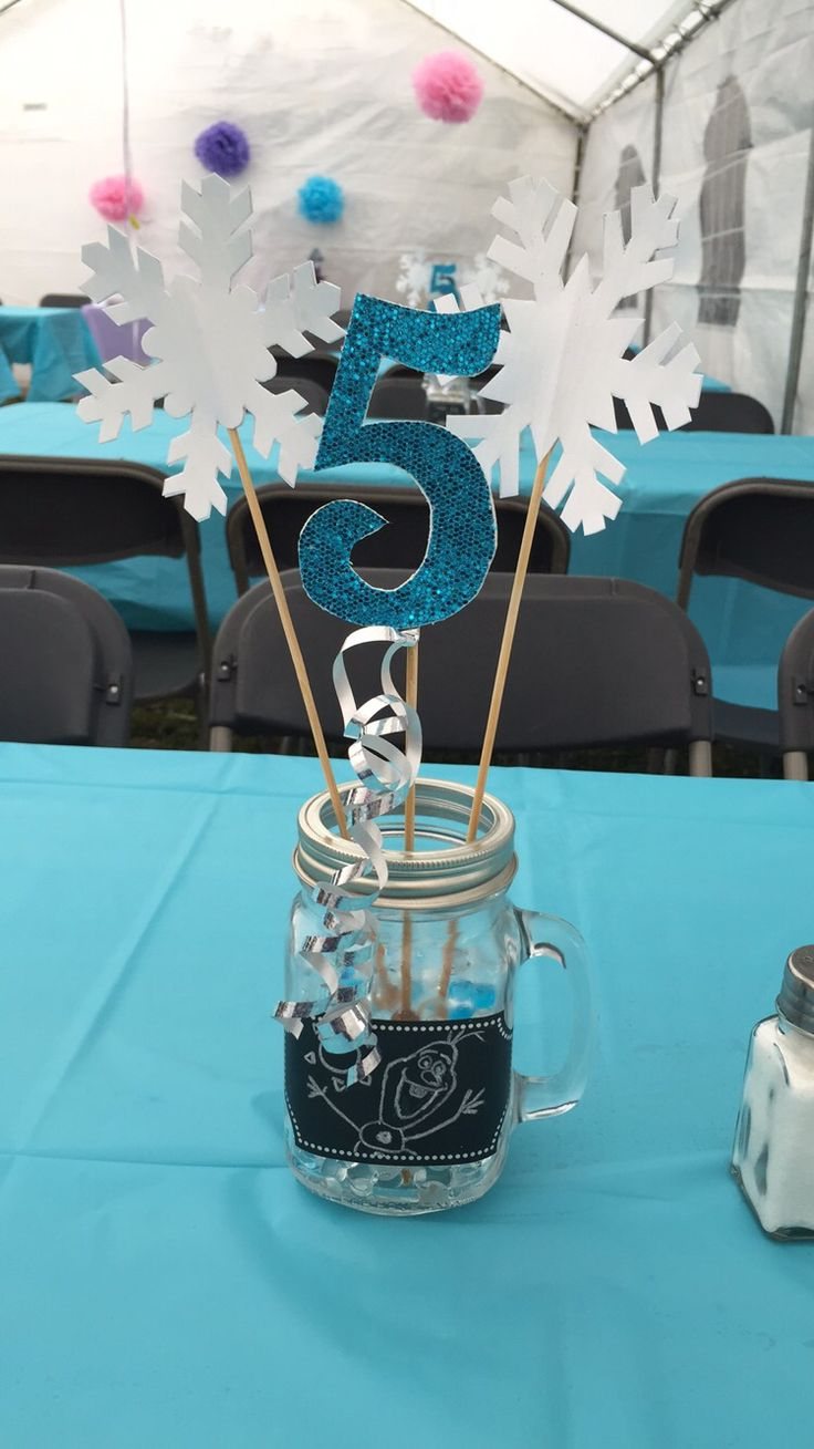 Center piece for Frozen themed birthday party