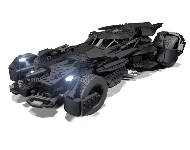"Approx. 18"" long 1664 Pieces This is a USC of the Batmobile from the highly anticipated Batman V superman: Dawn of Justice. When I saw the first images that where released b..."