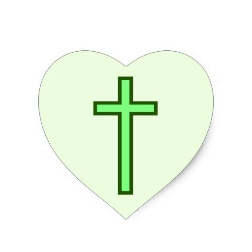 Large Green-Colored Christian Cross