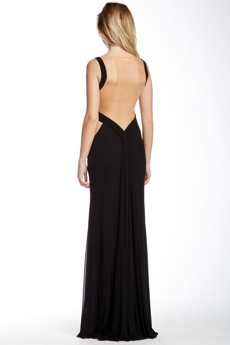 La Femme | Ruched Sleeveless Gown