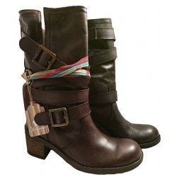 Boot with buckles and heel, Felmini shoes 8542