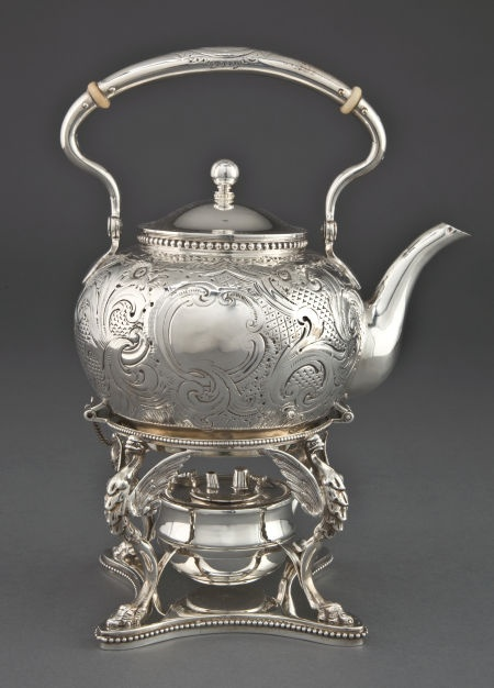 Silver Holloware American Hot Water Kettles A Tiffany