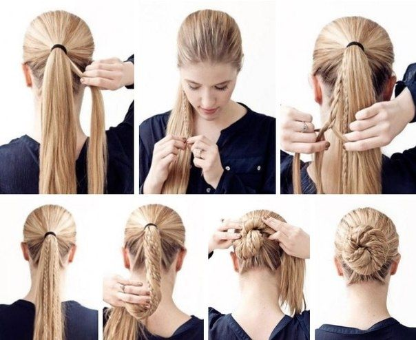 Awesome Really Easy Hairstyles Beautiful Really Easy Hairstyles 27 About Remodel Hairstyle Simple Wi Braided Bun Hairstyles Hair Braid Bun Tutorial Braided Bun