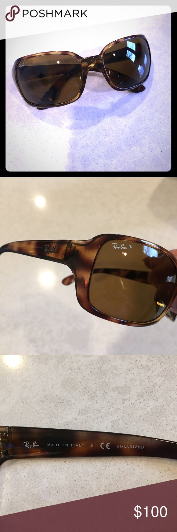 "Ray Ban Polarized sunglasses in tortoise color Like new! Excellent protection! Etched ""RB"" shown in last picture for authenticity. Comes with authentic cleansing cloth & case! Ray-Ban Accessories Sunglasses"