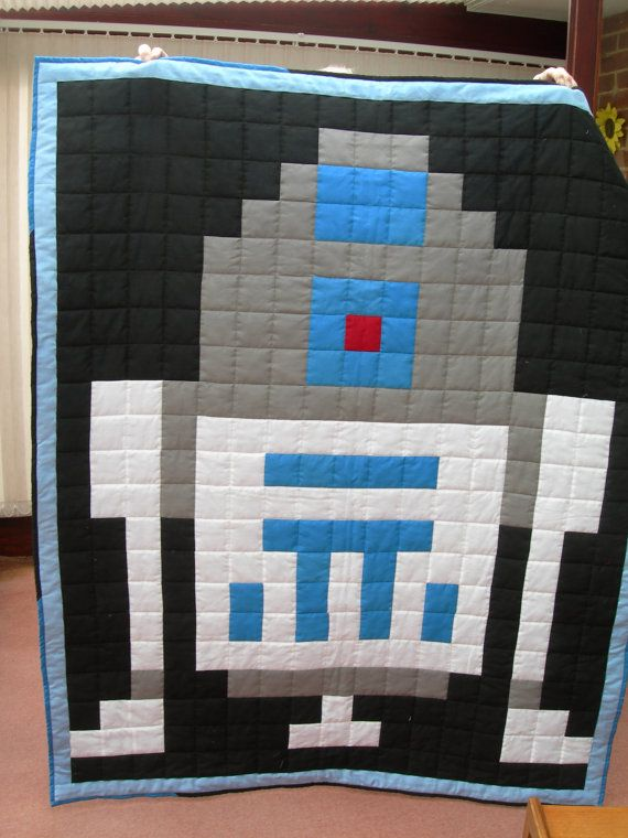 Handmade patchwork Star Wars quilt/throw