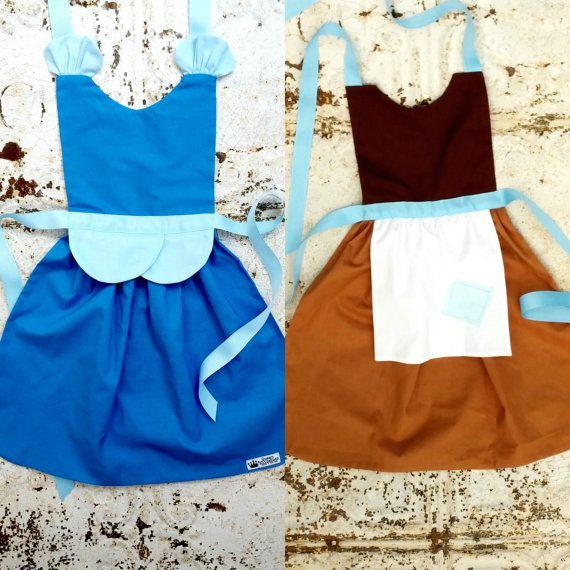 Cinderella Princess Disney Inspired Costume Apron Set