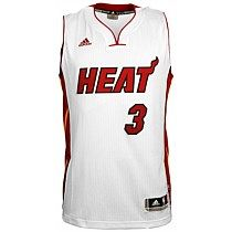 adidas Mens NBA Miami Heat Dwaynne Wade Home Singlet