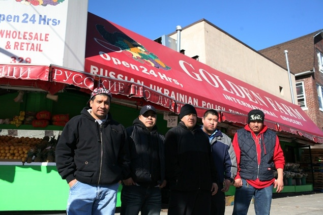 Many Kensington residents and longtime Golden Farm shoppers have backed up the workers, holding protests at the store, signing petitions, going door to door in the neighborhood, and spreading the word online. -- NY Daily News