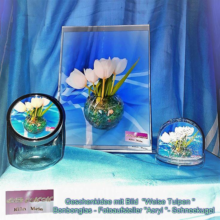 bonbonglas acrylglas bild schneekugel mit bild von internationale k nstlerin mila meier. Black Bedroom Furniture Sets. Home Design Ideas