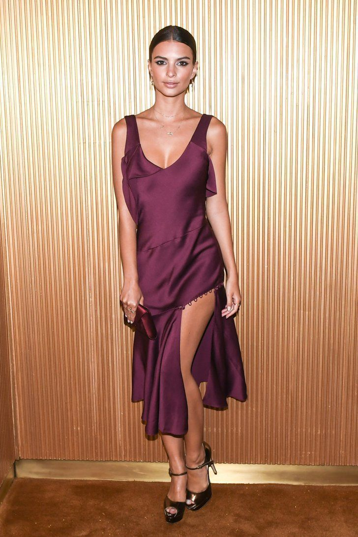59a89611eaf Pin for Later  Everyone Slipped Into Their Sexiest Looks For the Met Gala  Afterparty Emily Ratajkowski Wearing Prabal Gurung and Brian Atwood heels.