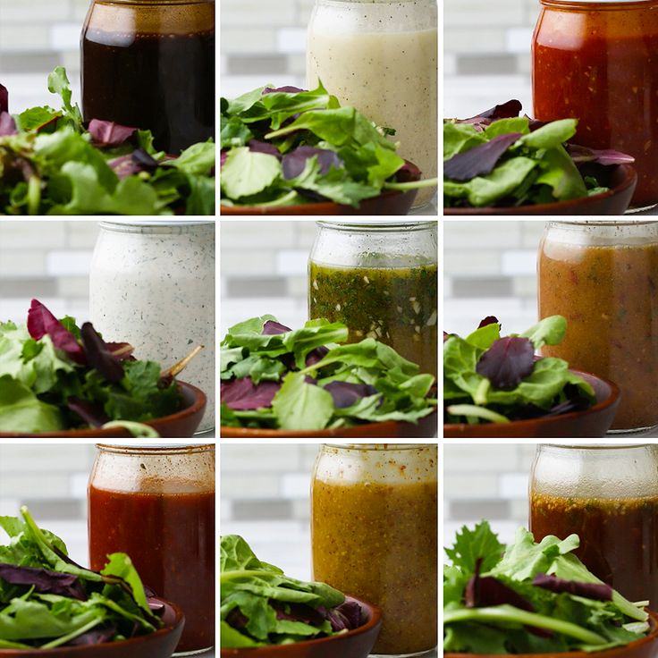Mason Jar Salad Dressings 9 Ways