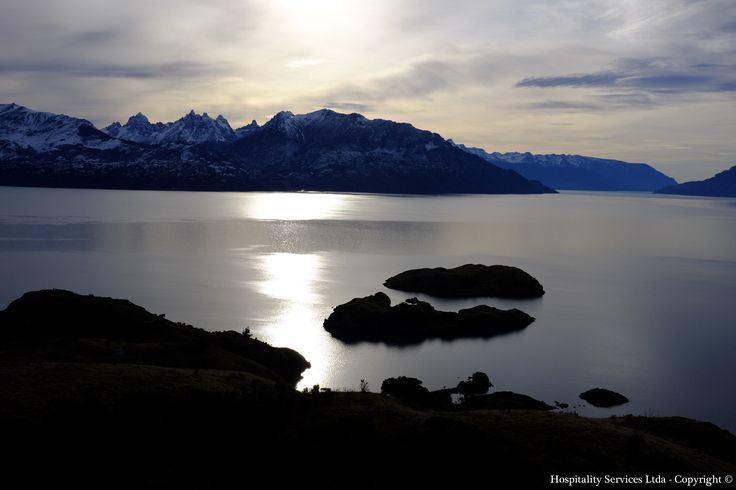 Photo: Hospitality Services Ltda - Copyright © The Andes dominating the General Carrera Lake as seen from Isla Macías, General Carrera Lake, Aysén, Chilean Patagonia.