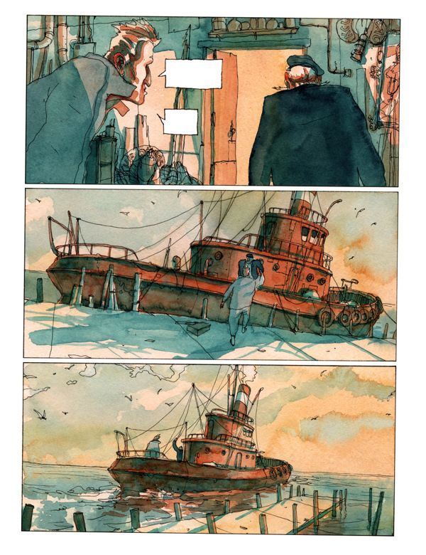 "Some watercolors - ""L'homme sans rêve"" by Olivier Bonhomme, via Behance"