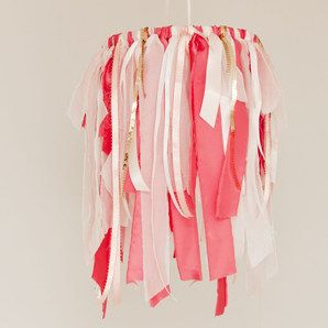 Ribbon and Fabric Baby Mobile - Raspberry by Max & Me Homewares