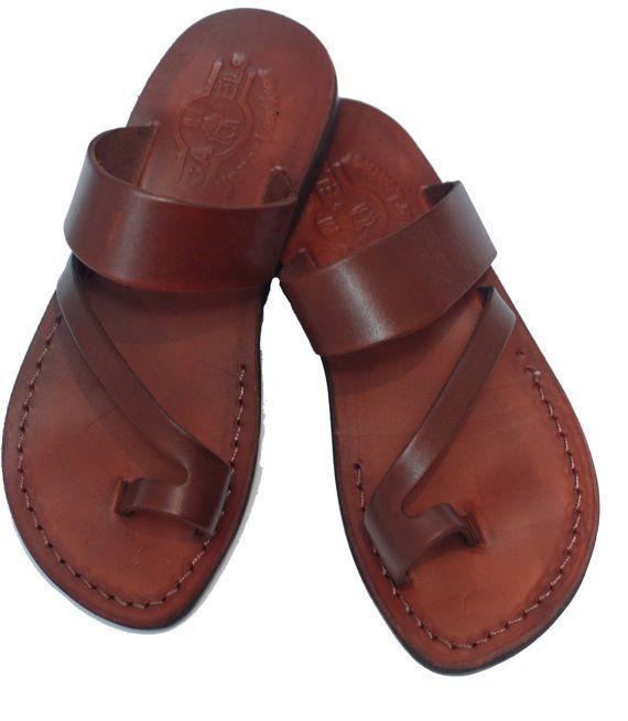 femme sandale en cuir | sandale en cuir marron | sandale de mariage | Jésus Sandales femme Grèce chaussure