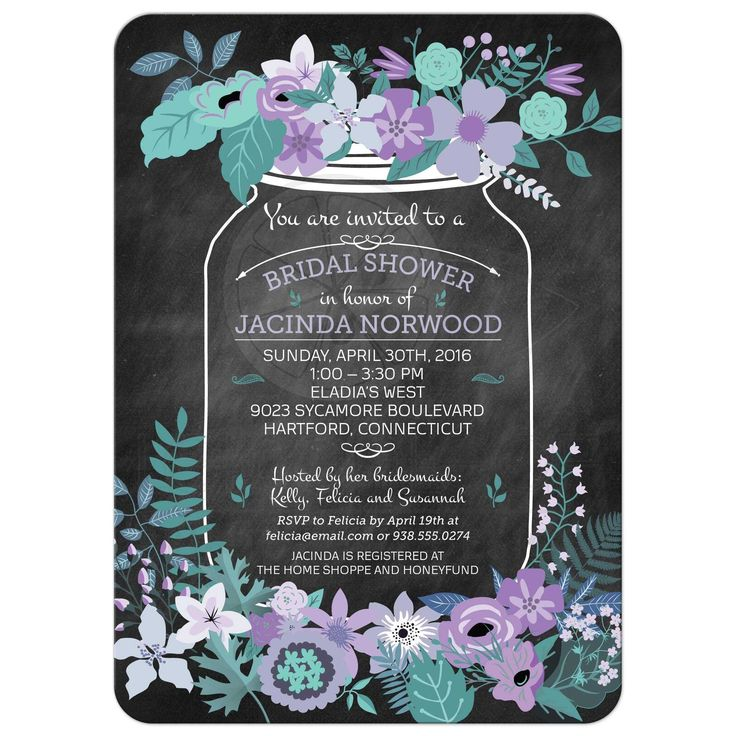 the 25+ best ideas about chalkboard mason jars on pinterest, Baby shower invitations
