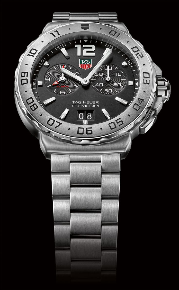 Tag heuer formula 1 alarm steel chronograph jewelers trade shop pensacola fl gents for Tag heuer c flex