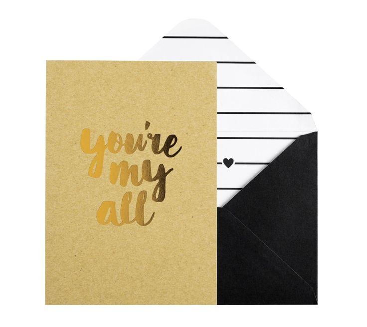 KRAFT GREETING CARD YOURE MY ALL LOVE IS LOVE