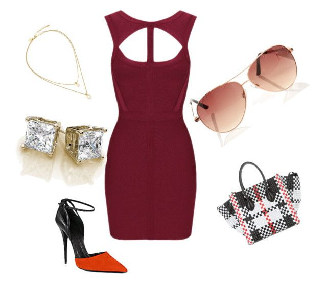 """""""SEXY RED"""" by rosey172528 on Polyvore featuring CÉLINE, Narciso Rodriguez and Kate Spade"""