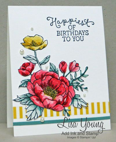 Stampin' Up! Birthday Blooms, LisaY