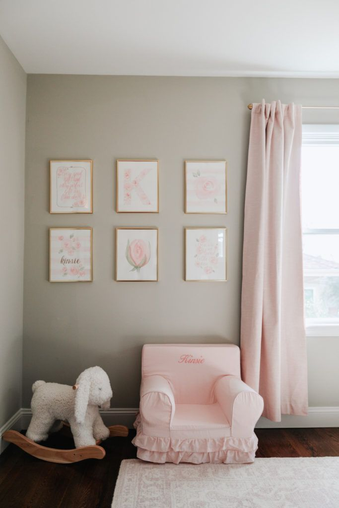 Baby Girl Nursery Tour In 2020 | Baby Room Artwork, Baby Girl Room Decor, Baby Boy Room Nursery