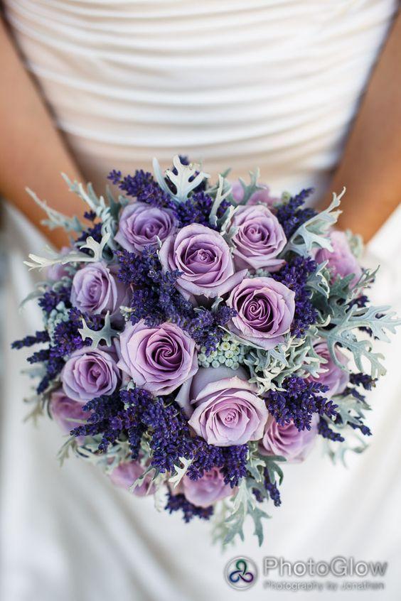 Ramo de novia en Colores lila