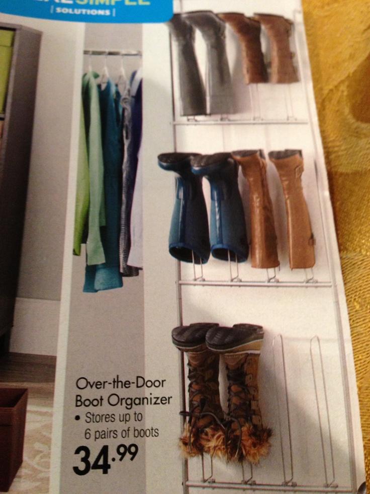 Over The Door Boot Organizer. Closet OrganizationCloset SpaceOrganizing  IdeasThe DoorsStorage ...