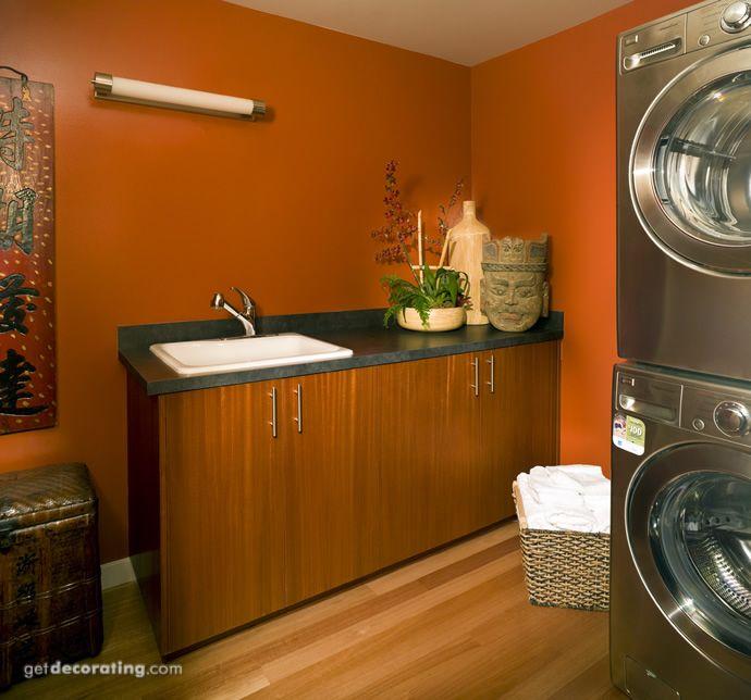 Burnt orange laundry room?
