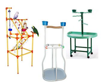 Plastic Bird Stands - Molded, PVC & Acrylic