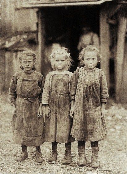 Little girls' dresses, btw. 1910-1912.  Labor Day - Women & children in the workplace in early 1900s America by Photographer Lewis Wickes Hine 1874-1940