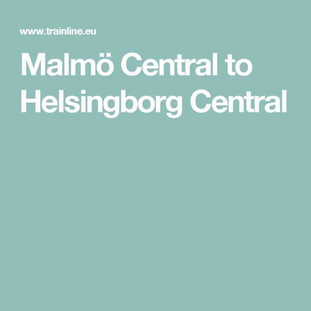 Malmö Central to Helsingborg Central