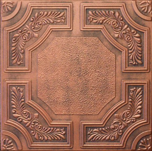 R28ac 20 X 20 Antique Copper Tin Looking Finish Texture