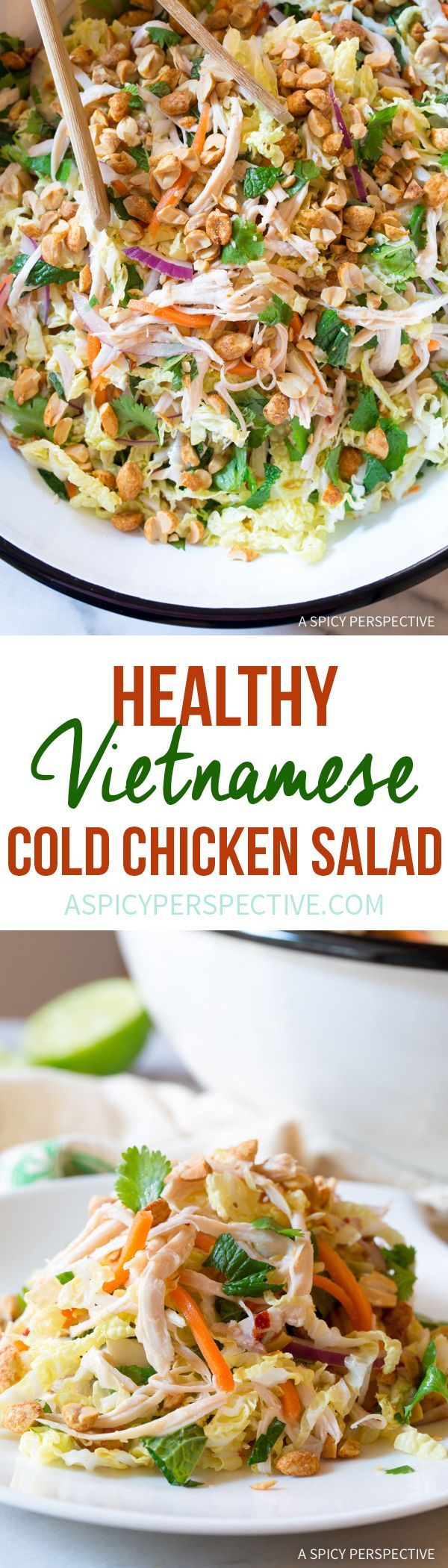 Vibrant Vietnamese Cold Chicken Salad (Goi Ga) #healthy #lowcarb #paleo via @spicyperspectiv