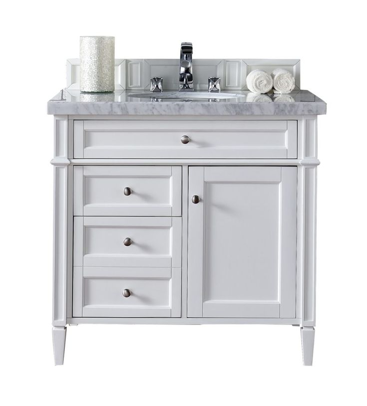 White 36 Inch Bathroom Vanity With Top